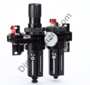 Olympian Plus combination unit (FRL), G1/4, automatic drain, 40µm filter element, without shut-off valve