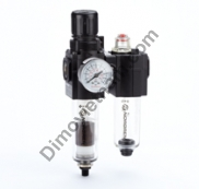Excelon combination unit (FRL), G1/4, automatic drain, 40µm filter element, without shut-off valve