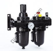 Olympian Plus combination unit (FRL), G3/4, automatic drain, 40µm filter element, without shut-off valve